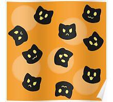 Halloween Kitties Poster