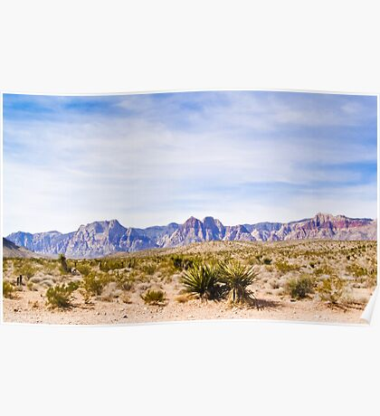 Wide Landscape of Red Rock Canyon Poster