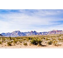 Wide Landscape of Red Rock Canyon Photographic Print