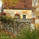 French Country Stone Wall by dawne polis
