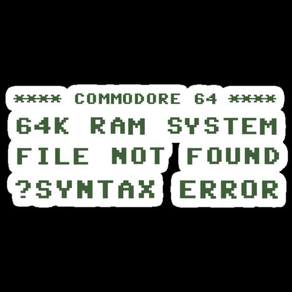 Syntax Error by RedCreative