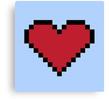 Pixel Heart Container Canvas Print