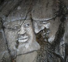 Faces on Rock I by HELUA