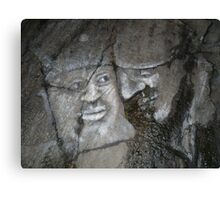 Faces on Rock I Canvas Print