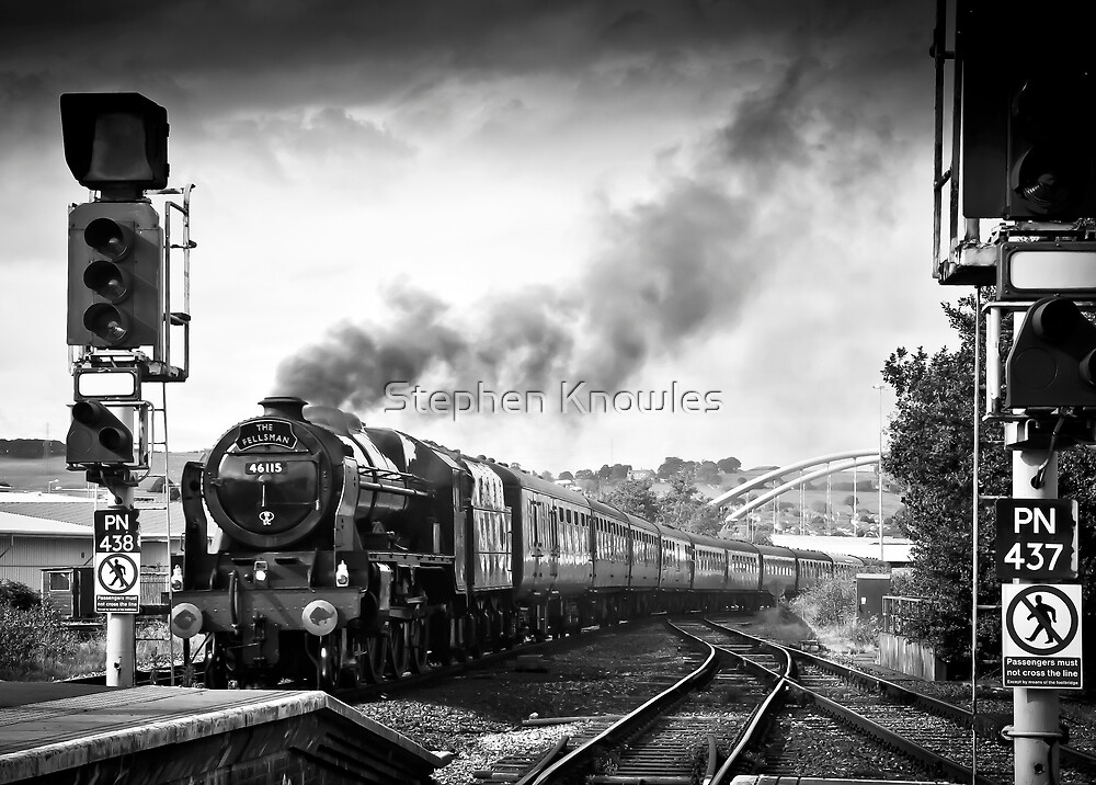 Scots Guardsman LMS Royal Scot Class 46115 by Stephen Knowles