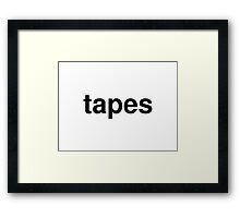 tapes Framed Print