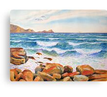 The Sea off St James, Cape Town, South Africa Canvas Print