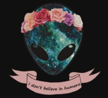 I don't believe in humans Kids Tee