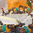 Donkey Train Yellow by Emma Holmes