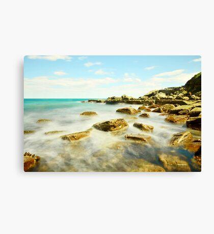 Misty Blue - Forresters Beach Canvas Print