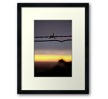 Wire Sunset Framed Print