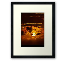 Sunset on FIRE Framed Print