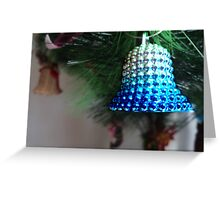 jingle bell, jingle bell, silver blue away... Greeting Card