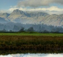 The Langdale Pikes In November by Jamie  Green