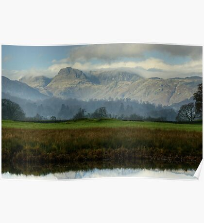 The Langdale Pikes In November Poster