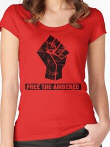 FREE THE AMBERED Women's Fitted Scoop T-Shirt