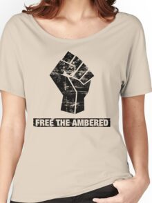FREE THE AMBERED Women's Relaxed Fit T-Shirt