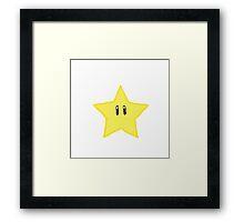 Mario Star :) Framed Print