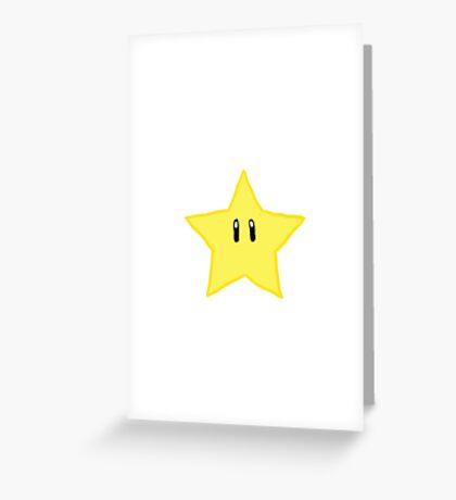 Mario Star :) Greeting Card