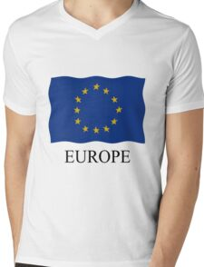 European flag Mens V-Neck T-Shirt