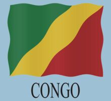 Congolese flag Kids Clothes