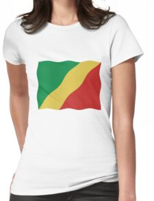 Congo Flag Womens Fitted T-Shirt