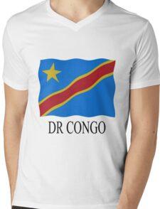DR Congo Flag Mens V-Neck T-Shirt
