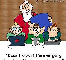 Christmas, Santa, Elves, Geeks by Larry Miller III