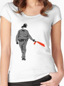 pepper spray Women's Fitted Scoop T-Shirt