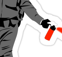 pepper spray Sticker