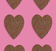 Chocolate Freckle Heart by Fiona Allan Photography