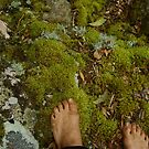 bare feet in the forest by MardiGCalero