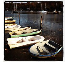 Boats on Water Severn Photographic Print