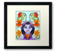 Fey Kitty Framed Print