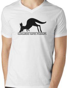 Kangaroo Hates Pushups Mens V-Neck T-Shirt