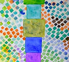 Pile and Mosaic Pattern  by Heidi Capitaine