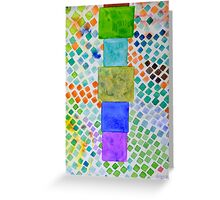 Pile and Mosaic Pattern  Greeting Card