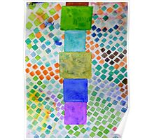 Pile and Mosaic Pattern  Poster