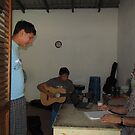 Guitar lessons at the Cuale Island, Puerto Vallarta, Mexico, Curso de Guitarra,  by PtoVallartaMex