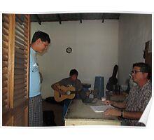 Guitar lessons at the Cuale Island, Puerto Vallarta, Mexico, Curso de Guitarra,  Poster