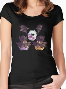 Halloween Pokemon - Pumpkaboo and Woobat Women's Fitted Scoop T-Shirt