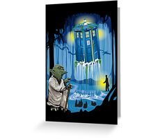 May the Tardis be with you, Dr Who Greeting Card