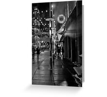 Cold Night in Uptown Greeting Card