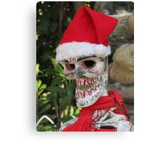 La Catrina as Santa Claus, Puerto Vallarta, Mexico Canvas Print