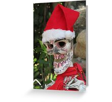 La Catrina as Santa Claus, Puerto Vallarta, Mexico Greeting Card