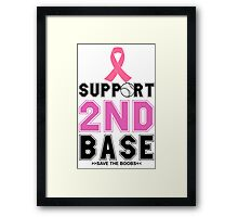 2ND BASE Framed Print