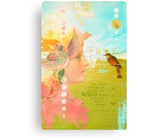 Message from the Muse - Greeting Card Canvas Print