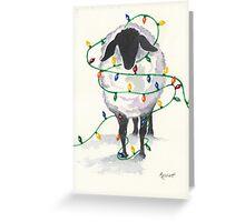 Fleece Navidad (8th in sheep series) Greeting Card