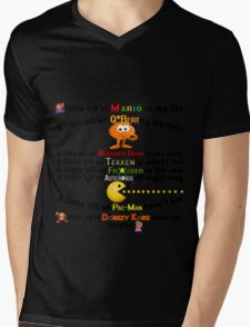 A Little bit of Old school arcade games Mens V-Neck T-Shirt
