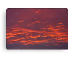 Background of red sky. Canvas Print